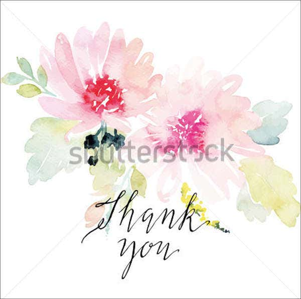 handmade thank you flower card1