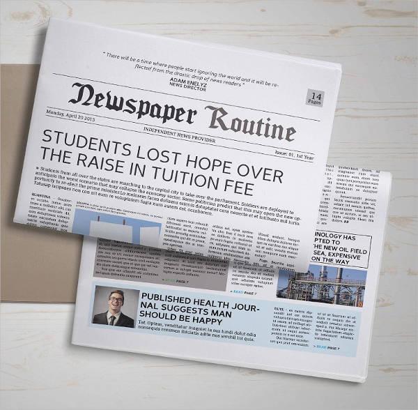 Elementary Classroom Newspaper Template