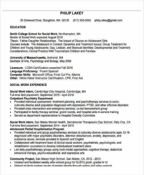 medical social work resume4