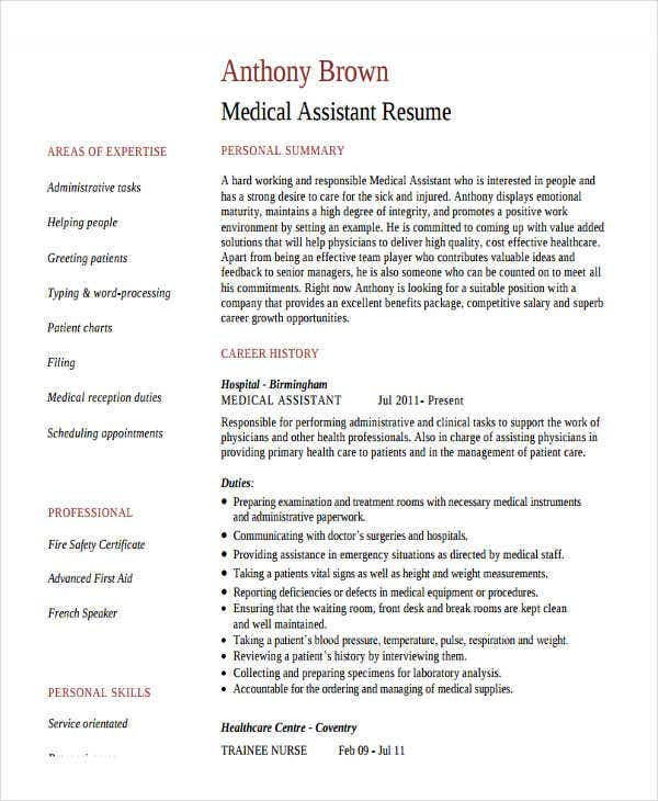 medical assistant work experience resume3