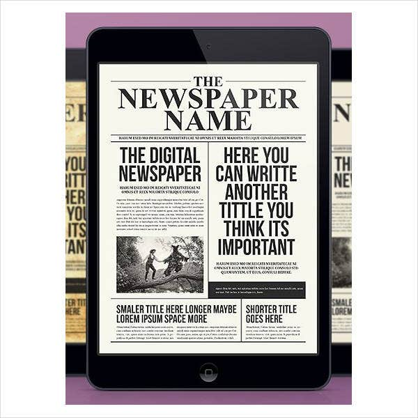 High School Digital Newspaper Template