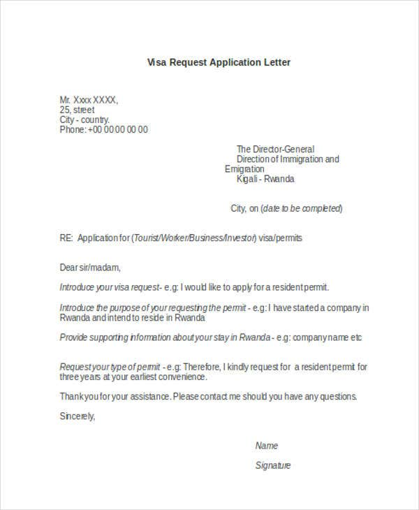 22 application letter templates in doc free premium templates visa request altavistaventures