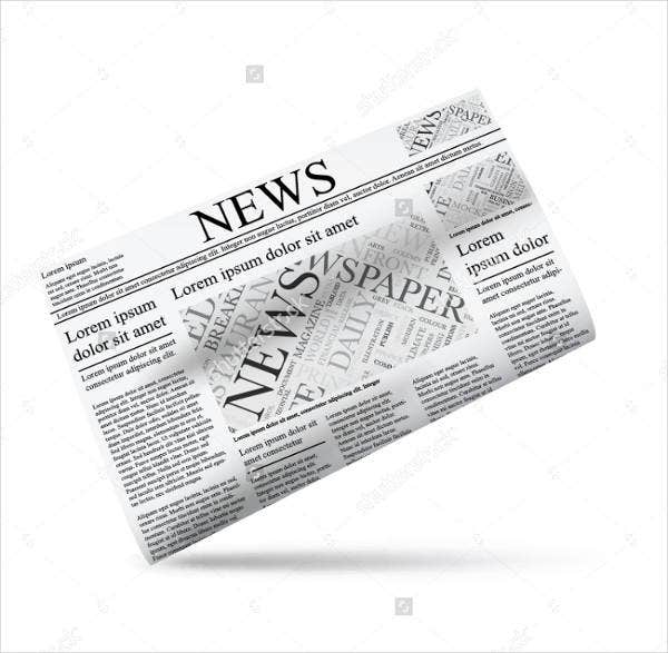 newspaper writer cover template