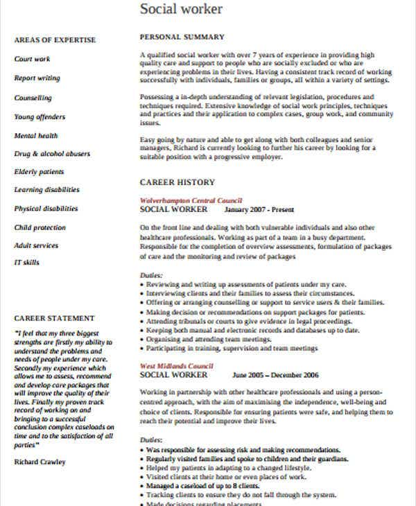 professional social work resume5
