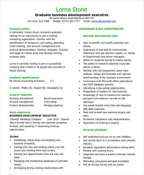 Simple Business Resume Templates   Free Word Pdf Documents
