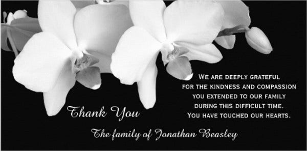 after funeral thank you card