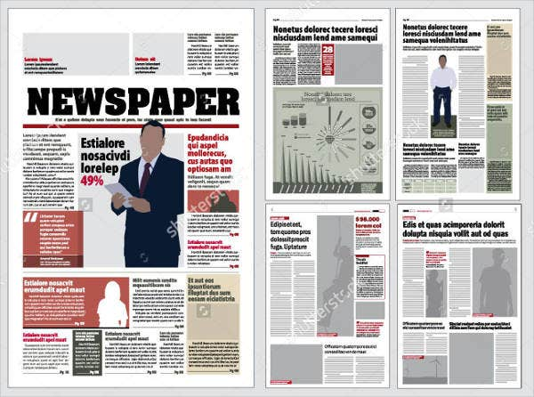 45 printable newspaper templates free premium templates for Paper ad design templates