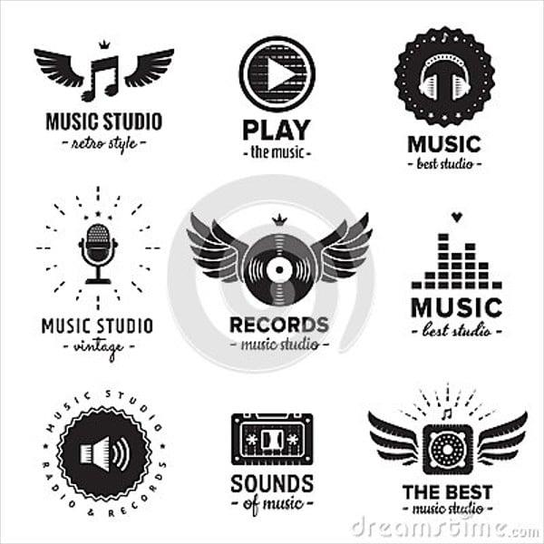 music-app-hipster-logo