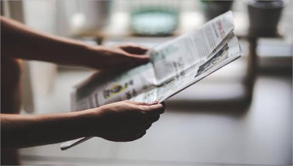 45 printable newspaper templates
