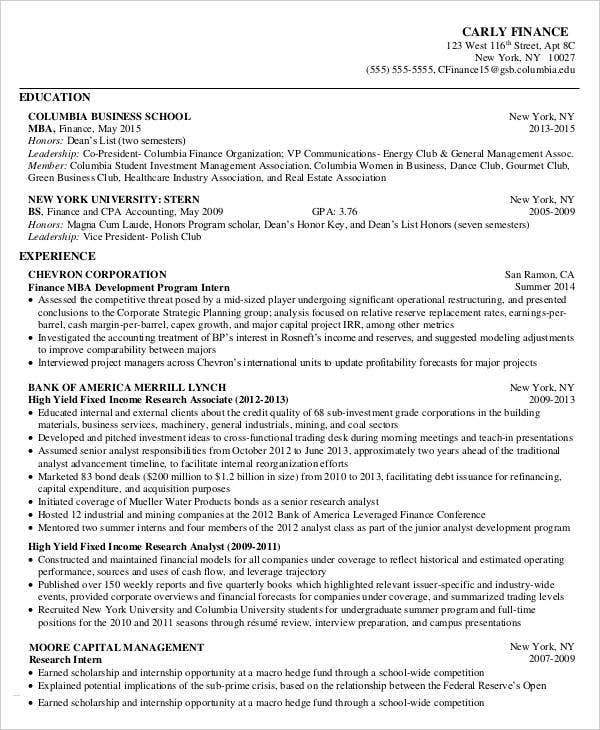 Elegant Business School Resume Inside Dance Resumeresume Prime