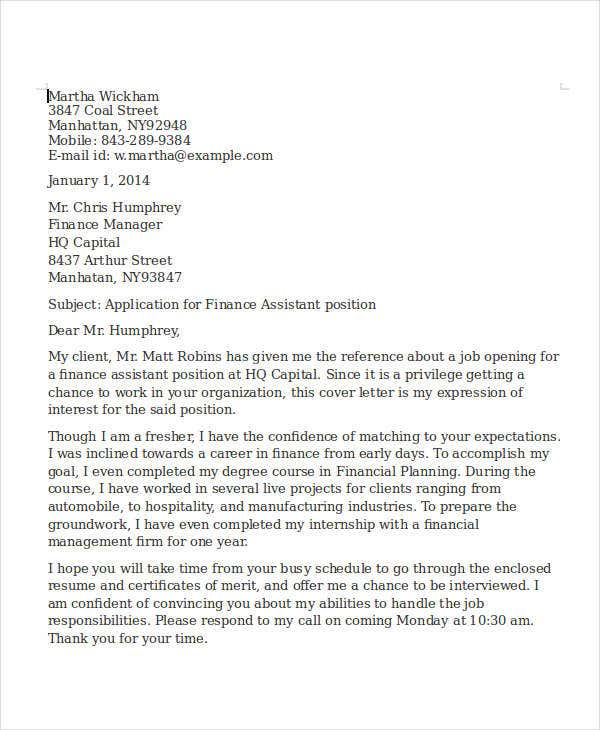finance assistant resume cover letter2