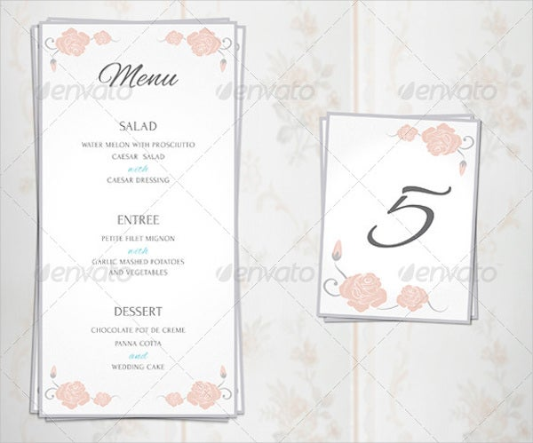 luxury bridal event menu1