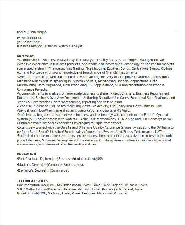 24  free finance resume templates