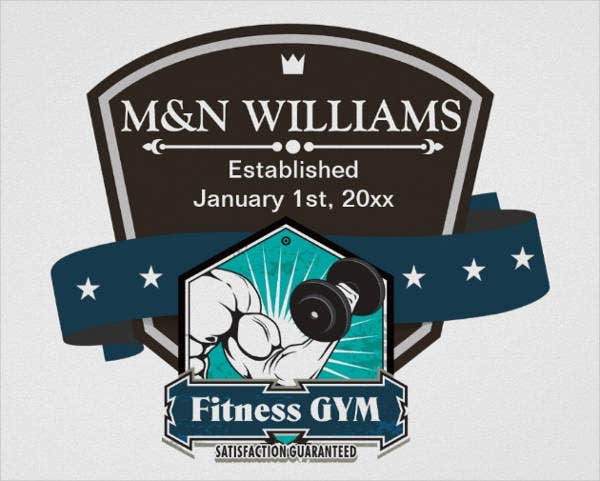 Fitness Gym Equipment Logo