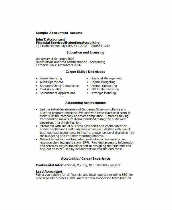 31 accountant resume samples free premium templates