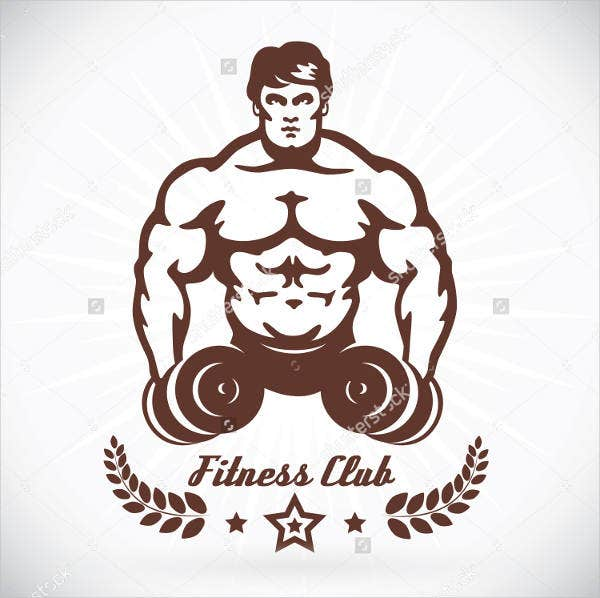 Fitness Body Building Logo