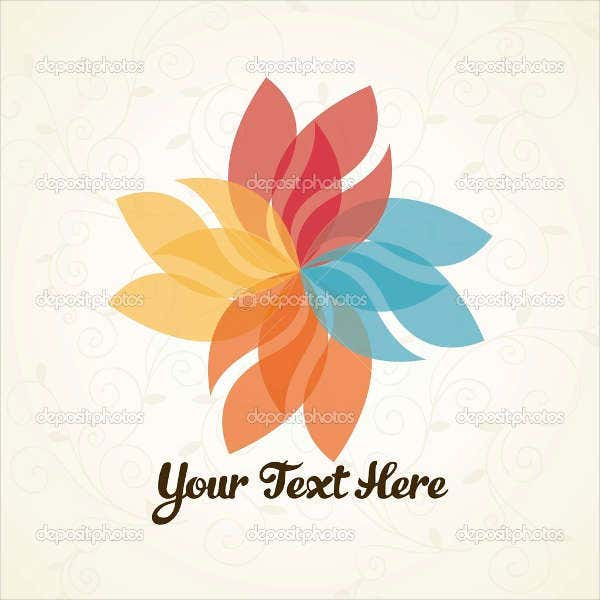 flower petal logo design
