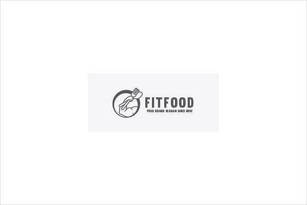 Fitness Company Food Logo