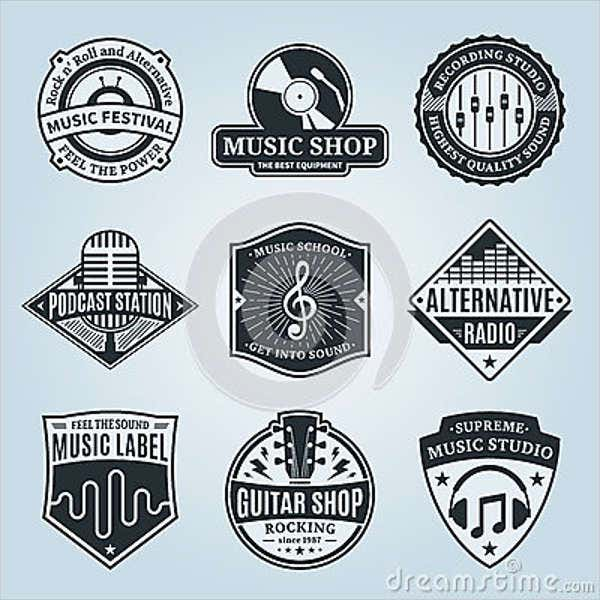 vintage-music-and-sound-logo