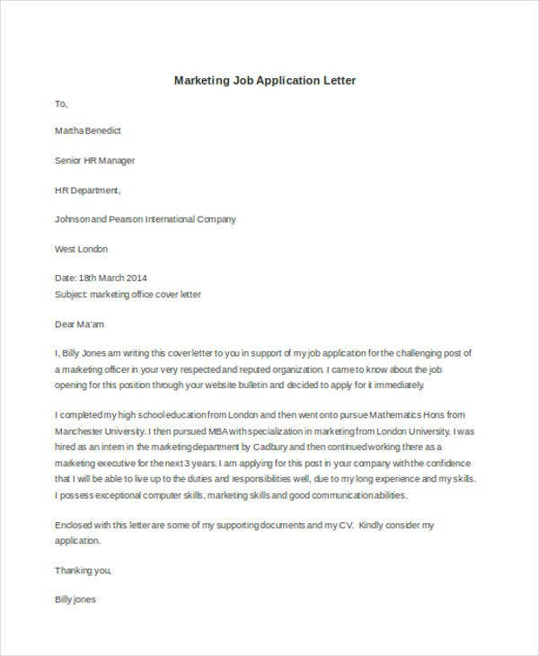 marketing job application letter3