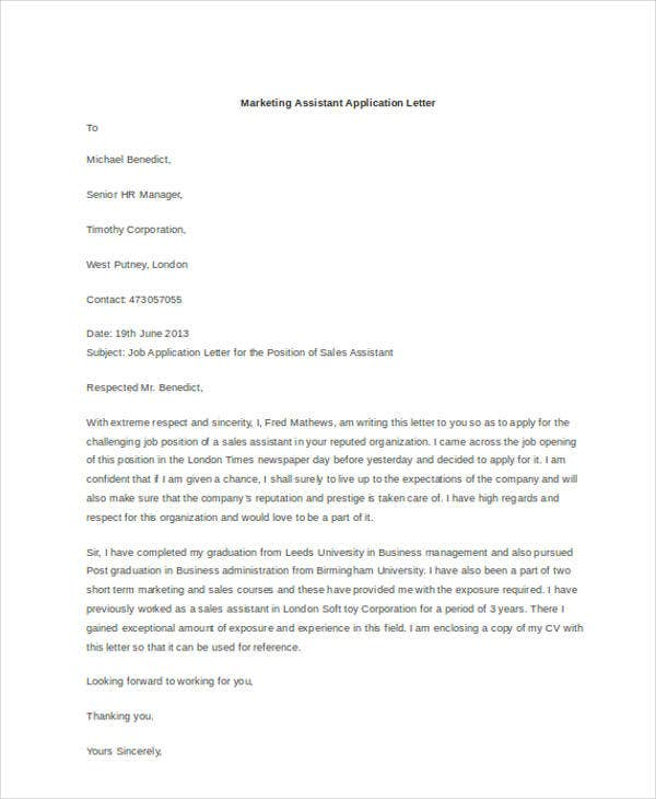 marketing assistant application letter3
