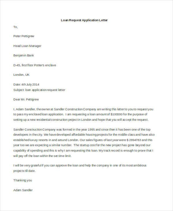 loan request application letter1