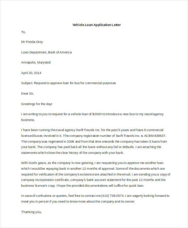22 Application Letter Templates In Doc