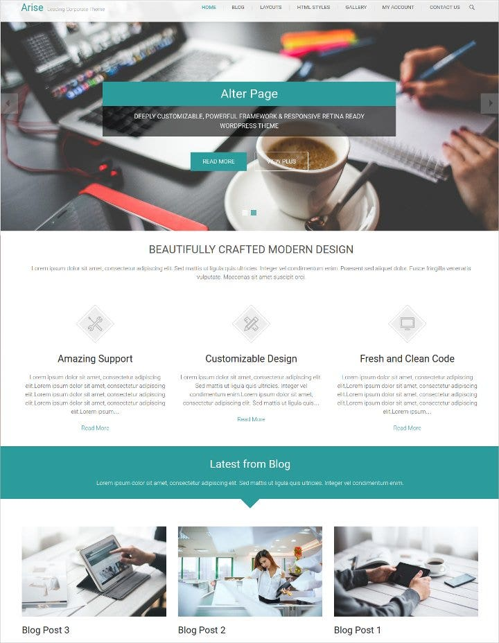 wordpress theme for business11