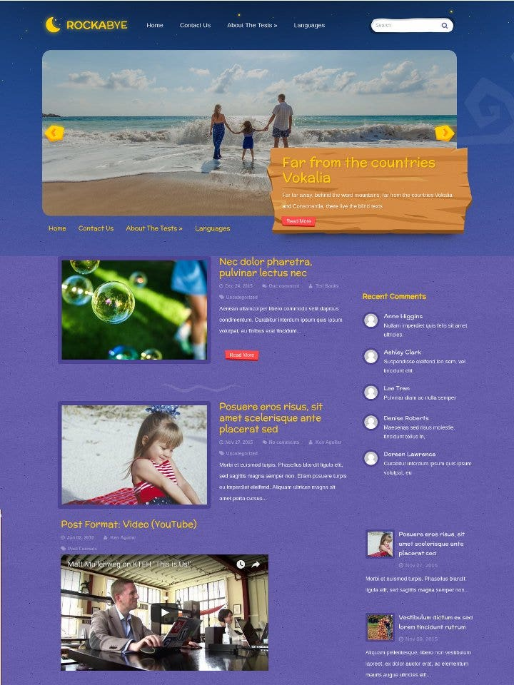 child wordpress theme1