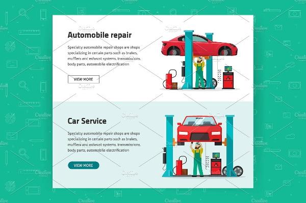 car-reapir-vector-banners