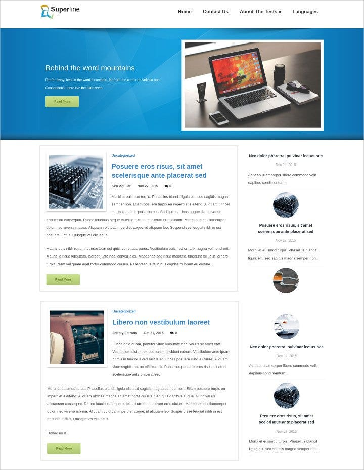 hi tech wordpress theme1