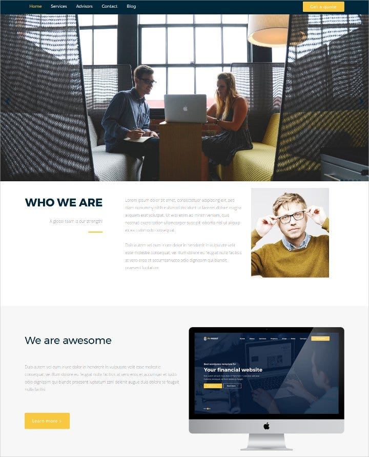 corporate wordpress theme11