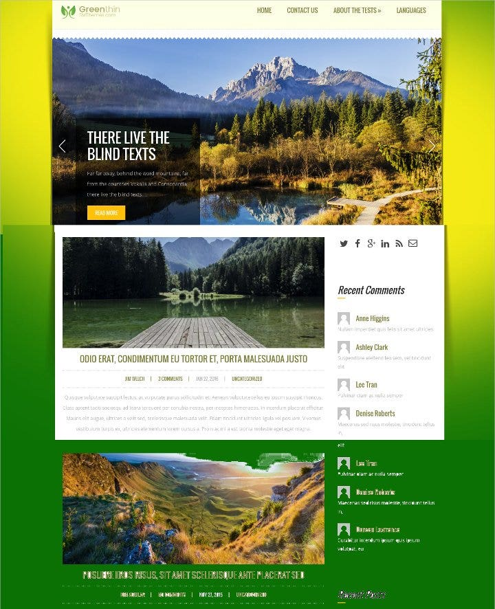 environmental wordpress theme1