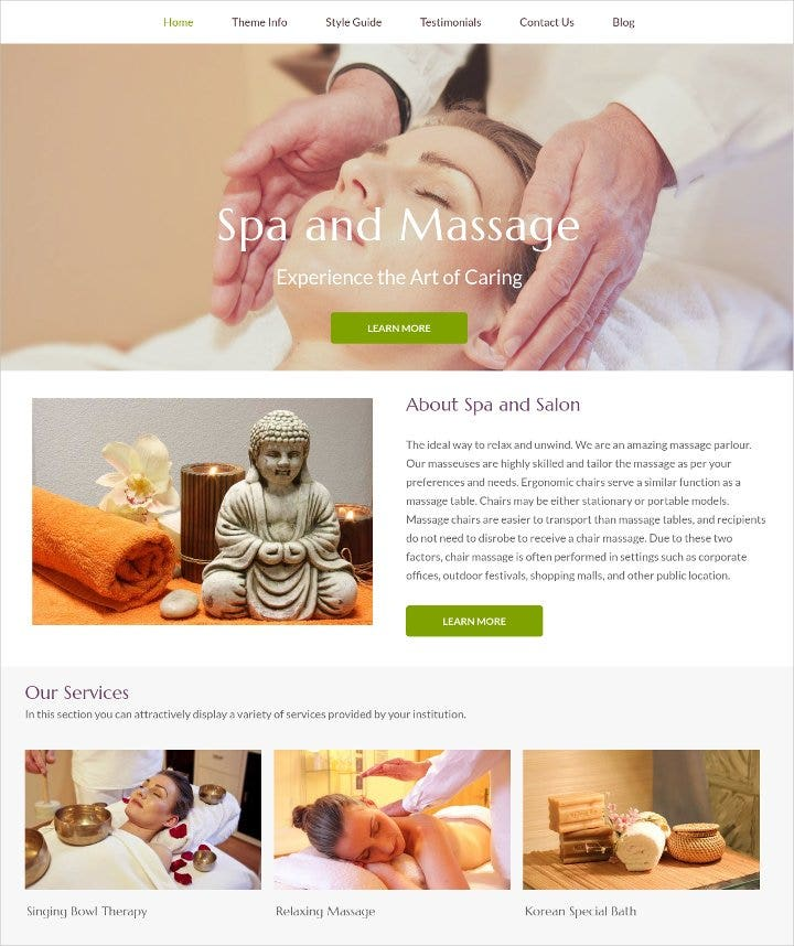massage therapy wordpress theme1
