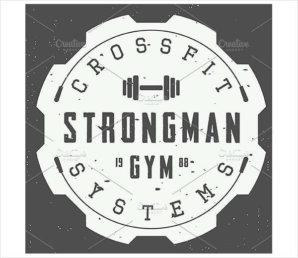 retro fitness logo psd