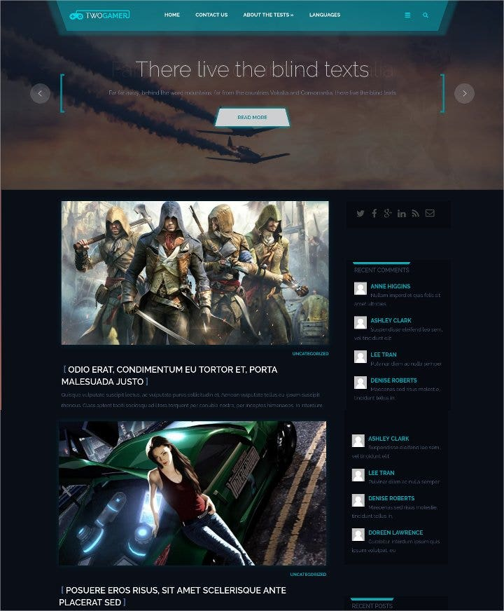 two gamer free wordpress theme1