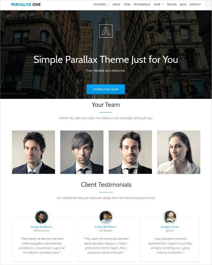one page wordpress business theme11