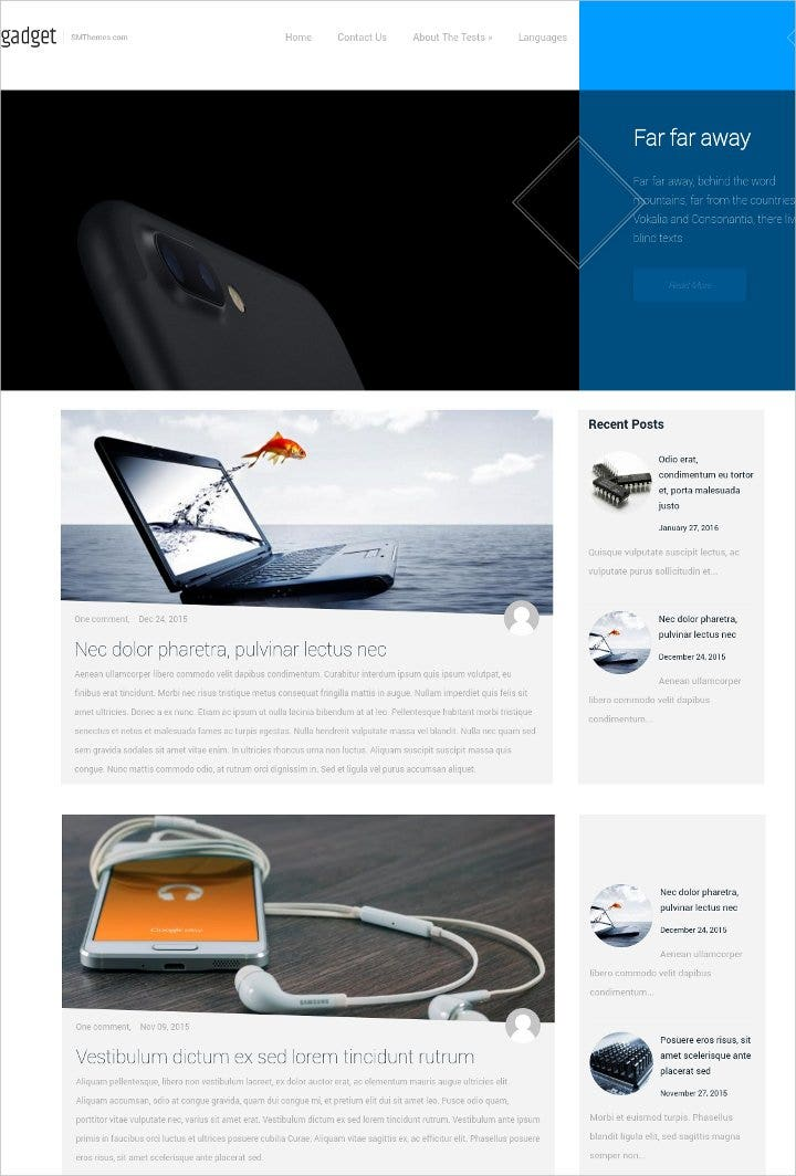 high technology gadget wordpress theme21