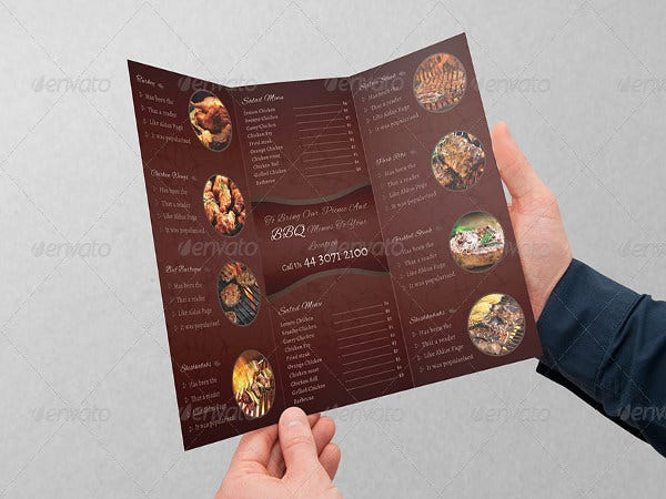 business event invitation menu