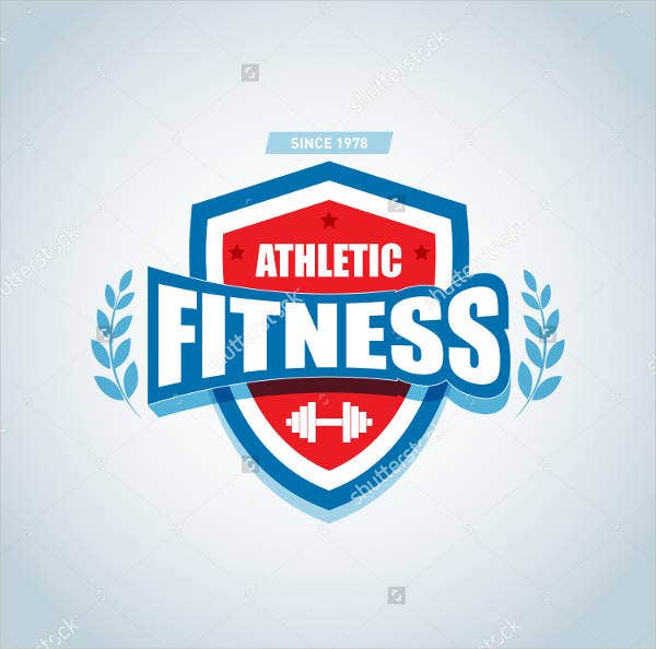 fitness product logo vector