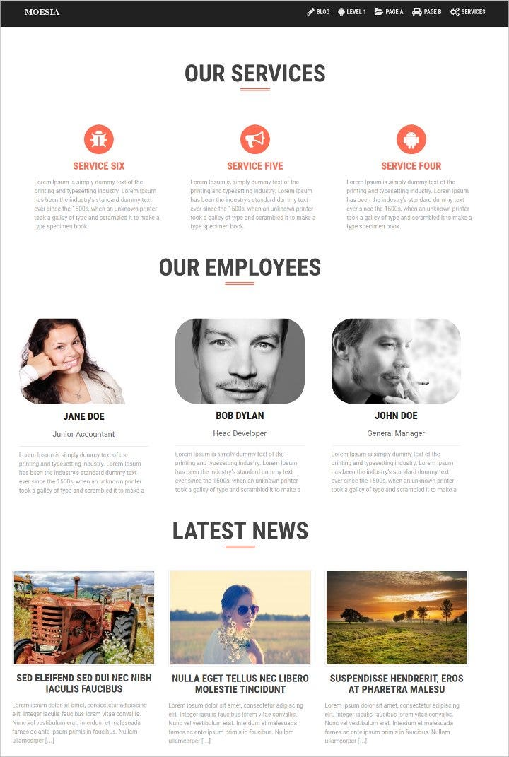 striking business wordpress theme1