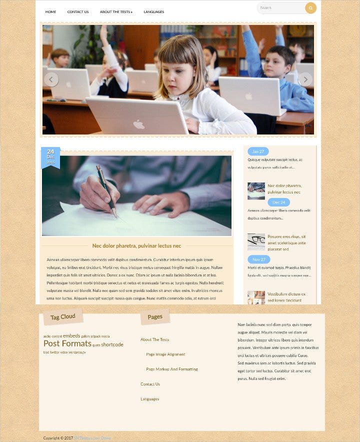 responsive education wordpress theme21