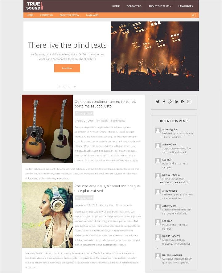 music wordpress theme11