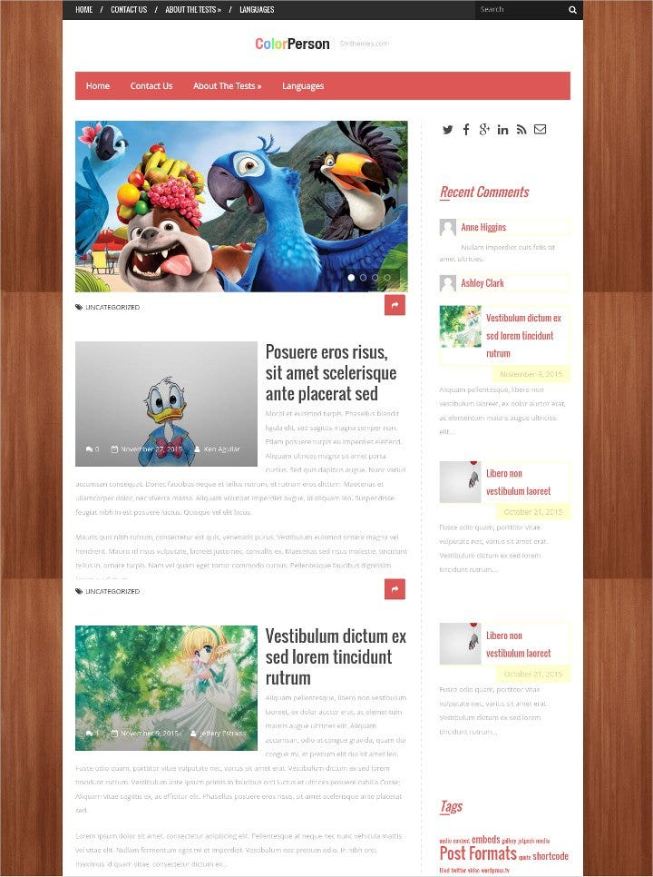 creative animation wordpress theme1