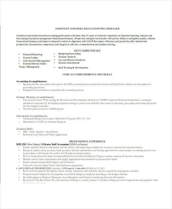 31  accountant resume samples