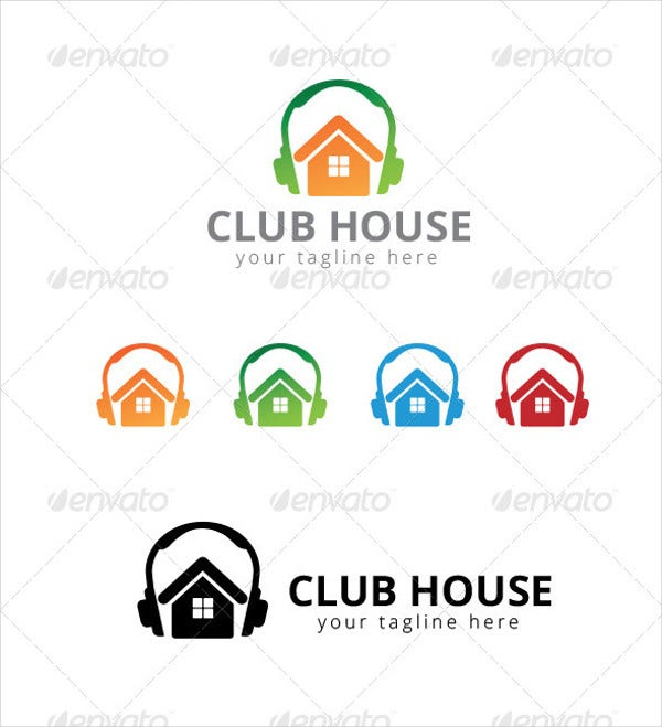 42 music logo designs free premium templates for House music club