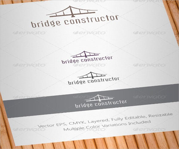 bridge-constructor-logo-template