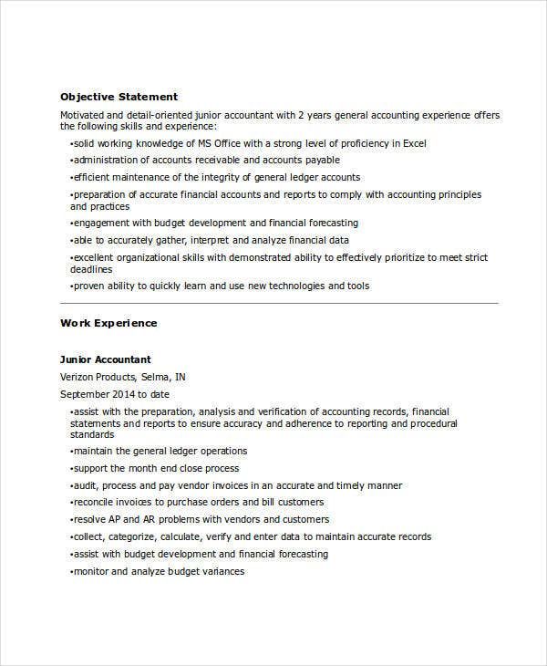 junior financial accountant resume4