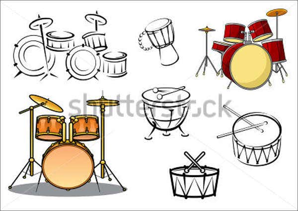 music-drum-equipment-logo