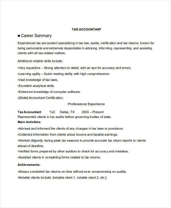tax accountant job resume1
